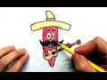 How to draw Red Chili Pepper With Mexican Ehedov Elnur Как нарисовать Перец Чили