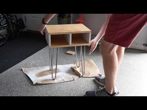 Cheap DIY Plywood Side Table/Nightstand LED