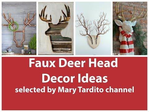 Faux Deer Head Decor Ideas – Christmas Deer Decorations