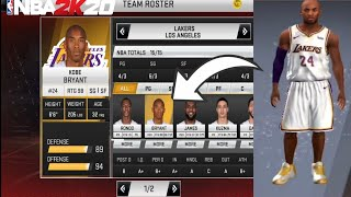 How to trade historic players/Hidden Teams | Nba2k20 v98.0.2 mobile Gameguardian android