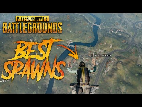 6 BEST PLACES TO LAND AND LOOT IN PUBG!!