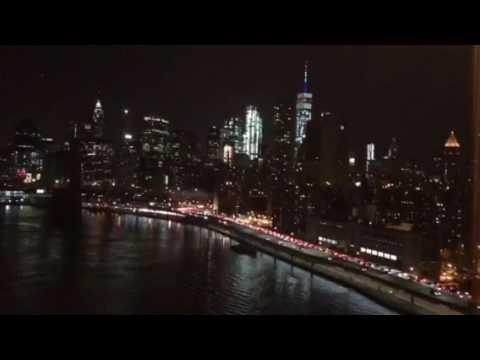 Crossing Manhattan Bridge At Night