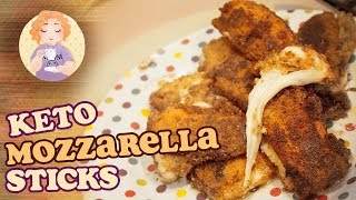 Keto Mozzarella Sticks Recipe (no Deep Fat Frier needed) aka Healthy Junk Food Tasty Low Carb Snacks