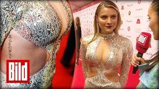 Hautenges Kleid - Sophia Thomalla zeigt Haut auf dem Deutschen Filmball 2016