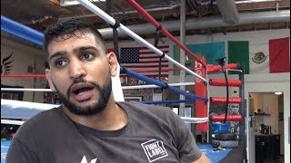 AMIR KHAN NERVOUS ABOUT UPCOMING FIGHT VS PHIL LO GRECO