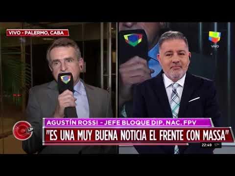 Agustín Rossi y su respaldo a Perotti