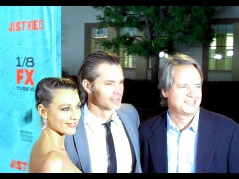 JUSTIFIED cast and crew discuss the writing - Timothy Olyphant, Graham Yost, Walton Goggins