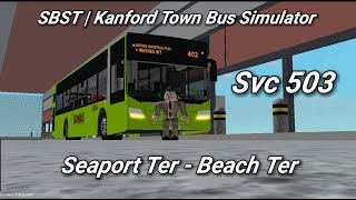 Singapore Bus Services Transit (Roblox)| service 503 | Seaport Terminal - Beach Terminal|