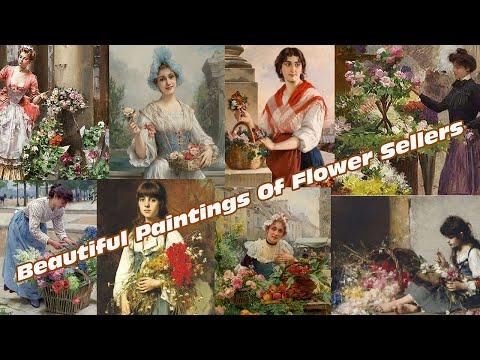 Flower Sellers Paintings