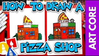 Art Core: Horizontal & Vertical Lines - How To Draw A Pizza Restaurant