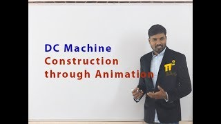 Construction of a DC Machine | Animation | PiSquare Academy