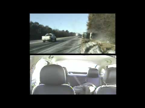 Fast Freddie - COP PULLS LUCKY WOMAN TO SAFETY ON ICY HIGHWAY