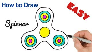 How to Draw Spinner Easy drawing for Kids