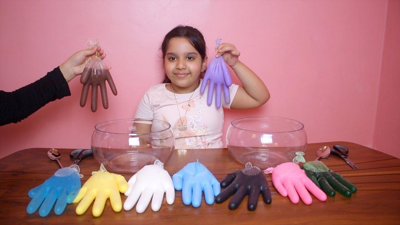 تحدي التلوين ب 3 الوان سلايم القفازات مقلبناها 3 Colors Of Glue Slime Gloves Challenge Youtube