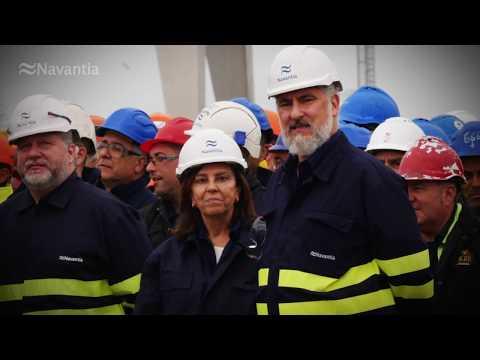NAVANTIA Puerto Real: foto de familia SUEZMAX 'Monte Udala'
