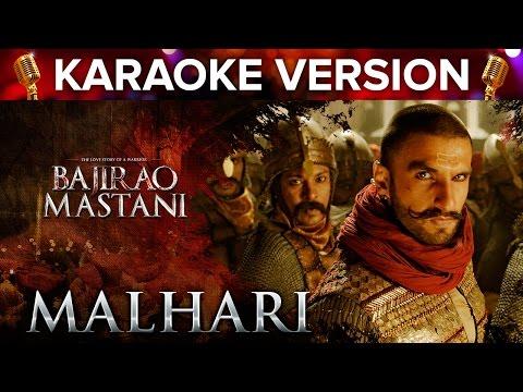 Malhari Song Karaoke Version   Bajirao Mastani   Ranveer Singh