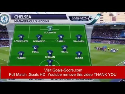 Goals Chelsea Vs Stoke City Highlights & Full Match