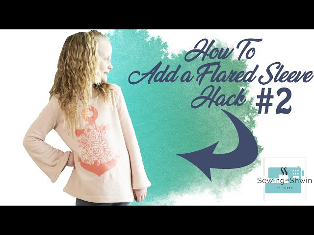 How to add a Flared Sleeve || Slash and Spread || Hack #2