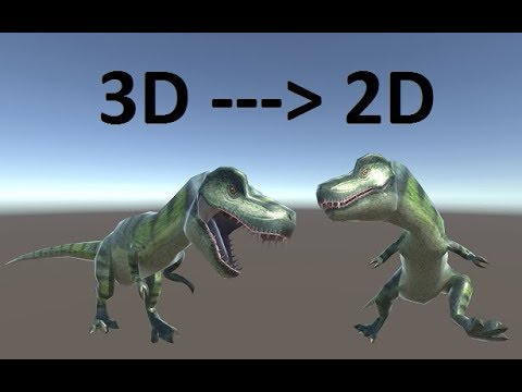 Turn 3D Model into 2D Sprite and give animation (Easy Way - Unity 2017)
