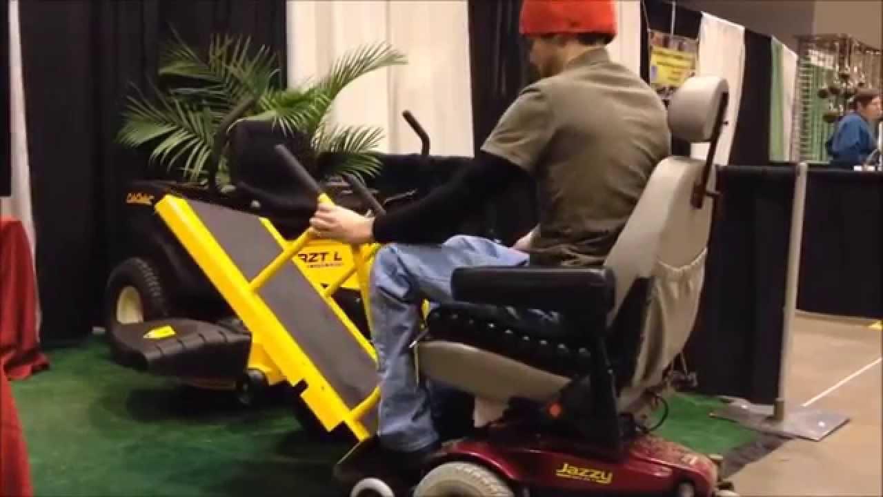 Handicap Wheelchair Accessible Lawn Mower Attachment