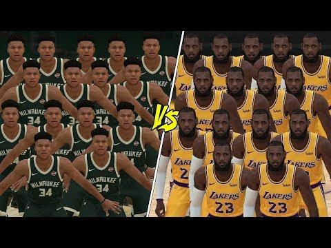 15 LeBron James vs 15 Giannis Antetokounmpo In NBA 2K19!