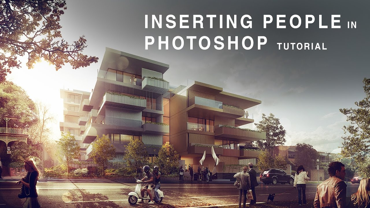 Architektur Rendering Photoshop Inserting People In Photoshop Tutorial