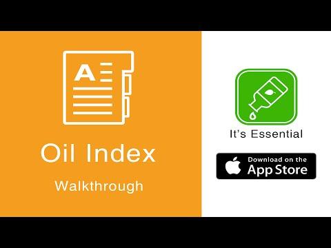 Essential Oils Guide | It's Essential iPhone App | Oil Index Walkthrough