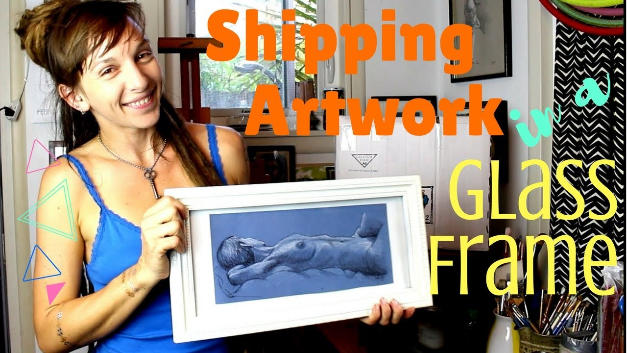 How to Pack Framed Art for Shipping Using Recycled Materials - YouTube