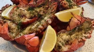 Готовим праздничный ужин. Море продукты. Омары на ужин. Не успеваем готовить,съедают в один миг!