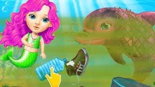 Fun Ocean Care Kids Games - Sweet Baby Girl Mermaid Life - Underwater world Clean Up Makeover Fun