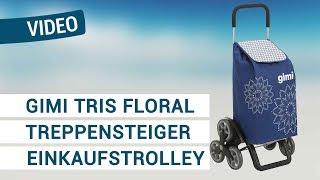 Produktvideo zu Treppensteiger Einkaufstrolley Gimi Tris Floral Blue