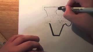 how to draw gta 5 logo (HD)