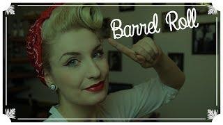 Super Einfache Basic Rockabilly Frisur / Barrel Roll / VINTAGE HAIR TUTORIAL (ENGLISH SUBS)