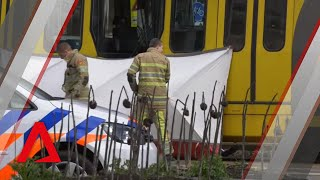 Police on the scene after tram shooting in Dutch city of Utrecht