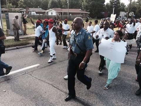 New Ferguson Cops March With Protesters
