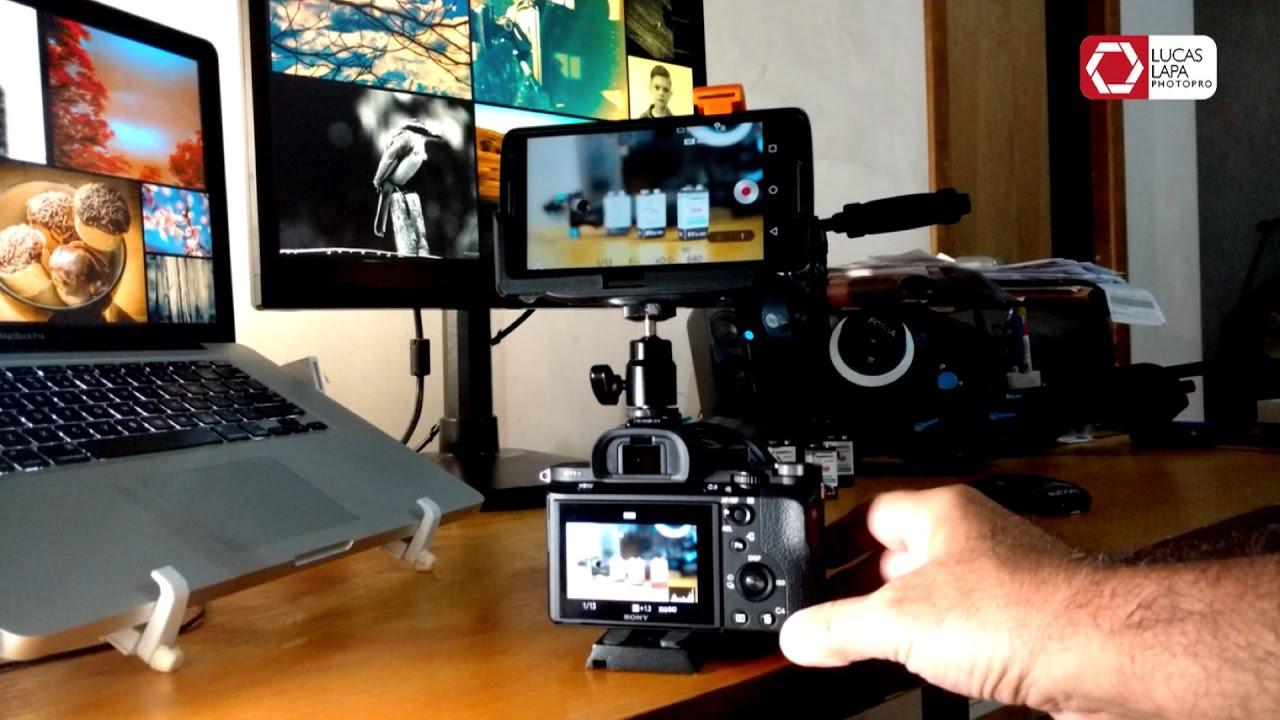 Monitor Externo Sem Fio Na Sony A7S II Com Smartphone ou Tablet