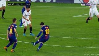 اخر 5 دقائق في مباراة برشلونه واشبيليه كاملة |ميسي يقلب الطاولة |اهداف مباراة برشلونة واشبيلية 2 2