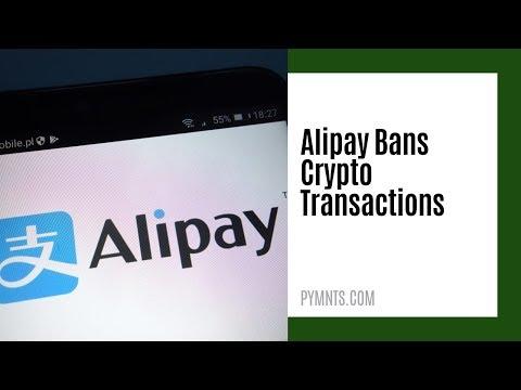 Alipay Bans Crypto Transactions