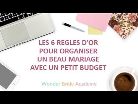 les 6 r gles d 39 or pour organiser un beau mariage avec un petit budget youtube. Black Bedroom Furniture Sets. Home Design Ideas