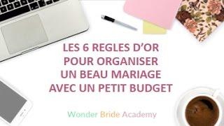Les 6 règles d'or pour organiser un beau mariage avec un petit budget