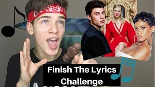 Try To Finish The Lyrics Challenge
