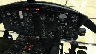 Обучение холодному старту вертолета UH 1H