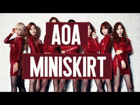 AOA - Miniskirt   (Easy Lyrics)   Pronunciación