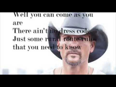 Down On The Farm- Tim McGraw (Lyrics+Pictures)