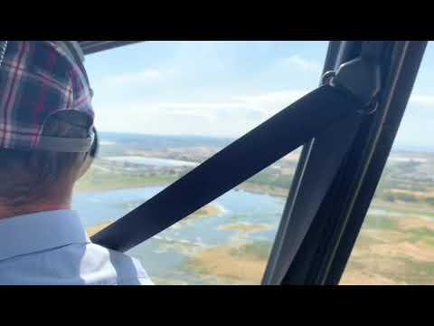 טיסת מסוק מראשון לציון לירושלים מעל בית זית
