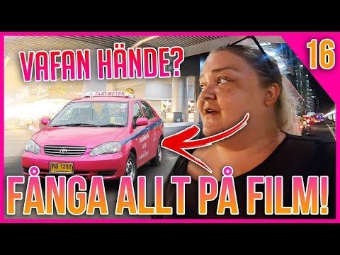 UTKASTADE UR TAXIN, FÅNGAR ALLT PÅ FILM   VLOGG 16 THAILAND