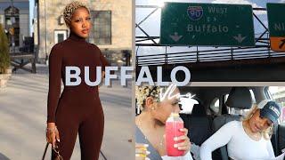 BUFFALO, NEW YORK TRAVEL VLOG FT. MUKBANG *BLACK-OWNED VEGAN RESTAURANT* | BANKS