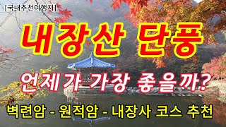 내장산 단풍- 우리나라 단풍 여행의 끝판왕! 단풍의 성…