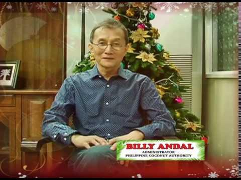 Pagbati mula sa ating mahal na Adminstrador ng Philippine Coconut Authority, Billy Andal.