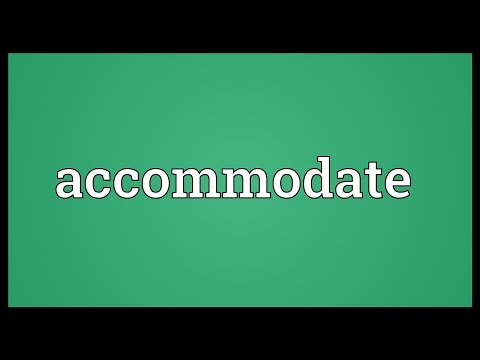 Accommodate Meaning
